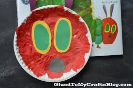 paper plate caterpillar kid craft
