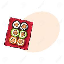jeux de cuisine chinoise plaque de jeu de sushis japonais dessin à la à la vue de