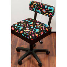 arrow hydraulic sewing chair with adjustable height u0026 storage ebay