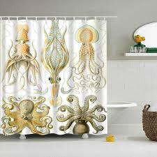 custom design curtains 2018 luxury smart vintage octopus sailing ship shower curtains