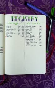 wedding registry book planning a wedding in the bullet journal part 3 the registry