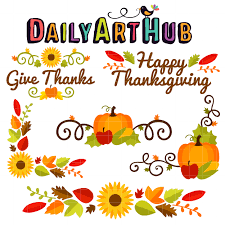 Thanksgiving Borders Clip Thanksgiving Corners Borders Clip Set Daily Hub Free