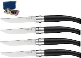 couteau opinel cuisine 001827 coffret 4 couteaux de table chic ebène opinel opinel