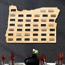 Oregon Wineries Map by Oregon Wine Cork Map