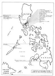 Luzon Map List Of Pow Camps In The Philippines