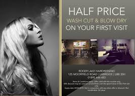 hair salon flyer offering discounts hair stylist salon my