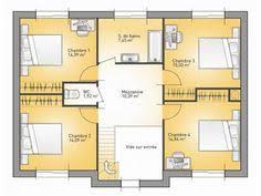 plan etage 4 chambres plan de maison plain pied gratuit 4 chambres 1 architecture