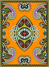 oriental design ukrainian oriental floral ornamental carpet design vector