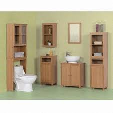 Undersink Cabinet Bathroom Furniture With Bamboo Veneer Space Saver Floor Cabinet