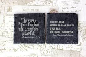 great house warming gift slate coasters with engraved mary shelley feminist quotes great