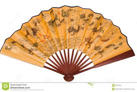 asian fan asian fan with dragons stock photo image of