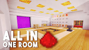 One Room All In One Room Redstone House W 12 Redstone Creations Youtube