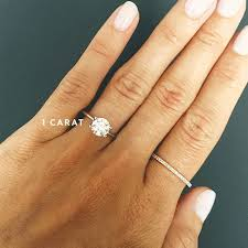 1 carat engagement rings image result for 1 carat ring on finger some day