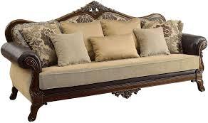 Sofa King Doncaster by Rashid Dark Oak Sofa From Furniture Of America Coleman Furniture