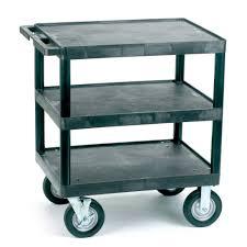 Shelves With Wheels by Ref Vgi735l Heavy Duty Plastic Shelf Trolley With 3 Flat Shelves