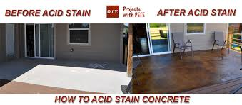 Colored Concrete Patio Pictures How To Acid Stain Concrete