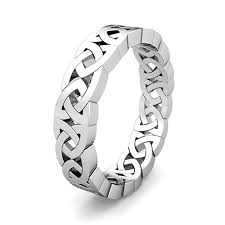 Platinum Comfort Fit Wedding Band Celtic Knot Wedding Ring For Men In Platinum Comfort Fit Eternity Band
