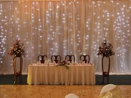 wedding backdrop with lights simple back lit drape in wedding colours with free standing