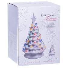 white christmas tree with multicolor lights retro light up white ceramic christmas tree retrofestive ca