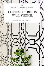 create a dramatic wall with contempo trellis wall stencil