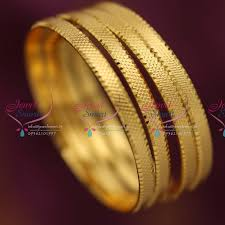 gold set for marriage b3717s 2 4 size 4 pieces casual wear gold plated design bangles online