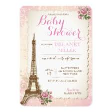 parisian baby shower vintage pink baby shower invitations announcements zazzle