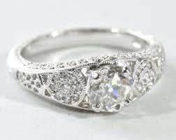 mine cut engagement ring mine cut etsy