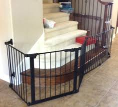 Child Safety Gates For Stairs With Banisters Custom Extra Wide Large Child Baby Safety Gate Installation Baby
