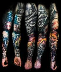military war tattoo on half sleeve for men photo 2 2017 real