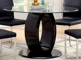 Round Glass Top Pedestal Table Amazon Com Furniture Of America Quezon Round Glass Top Pedestal