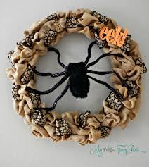 Wreath Halloween Halloween Burlap Spider Wreath Miss Frugal Fancy Pants