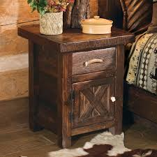 rustic and log night stands reclaimed furniture design ideas