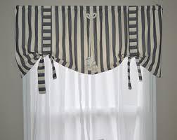 items similar to window valance tie up valance blue valance