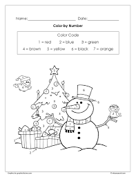 coloring pages free christmas color number worksheet archives