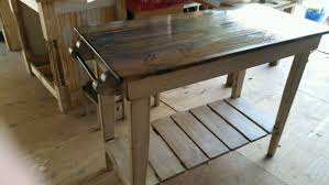 Farmhouse Style Kitchen Islands by Farm Table Style Kitchen Island Distressed Pine Kitchen Work