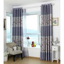 Purple Curtains For Living Room Gray Floral Jacquard Artificial Fiber Modern Curtains For Living Room