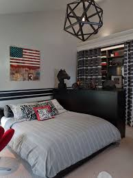 Curtain Idea For The Open Closet Modern And Stylish Teen Boy - Ideas for teenage bedrooms boys