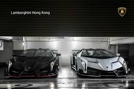 lamborghini veneno and aventador two lamborghini venenos roadster in hong kong