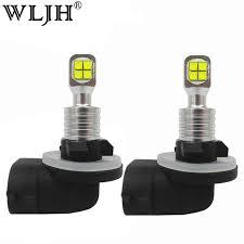 wljh 2x 40w 1000lm led car light 881 h27 bulb 8x smd automobiles