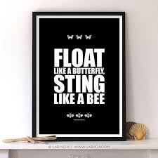 float like a butterfly sting like a bee a sports quote by muhammad