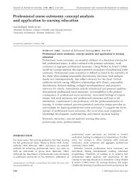 professional nurse autonomy concept analysis and application to