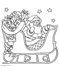 santa sleigh coloring sheets
