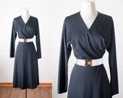 black wrap dress etsy