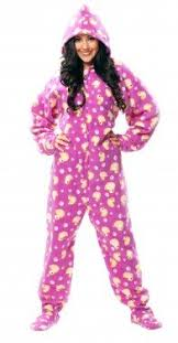 jumpin jammerz purple duck hoodie footed pajamas clothing