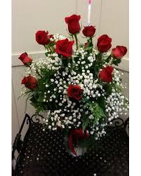 Long Stem Rose Vase 12 Long Stem Roses In Vase In Greensboro Nc Send Your Love