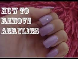 how to easily remove acrylic nails at home youtube