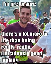 Good Looking Guy Meme - ridiculously photogenic guy two thumbs