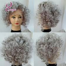 gray hair pieces for american long curly gray wig wigs by unique