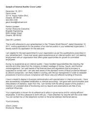 Internal Auditor Resume Cover Letter Auditor Sample Internal Auditor Cover Letter For