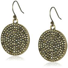 earrings brand lucky brand gold pave disk earrings dangle earrings